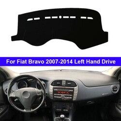 Samochód Auto pokrywa deski rozdzielczej Cape dla Fiat Bravo 2007 2008 2009 2010 2011 2012 2013 2014 LHD Dashmat Pad desce rozdzielczej dywan mata na deskę rozdzielczą w Wycieraczki samochodowe od Samochody i motocykle na