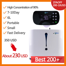 in stock High quality 93% purity Portable 24H Oxygen Concentrator 6L/min Oxygen Machine homecare Use oxigen generator AC110 220V
