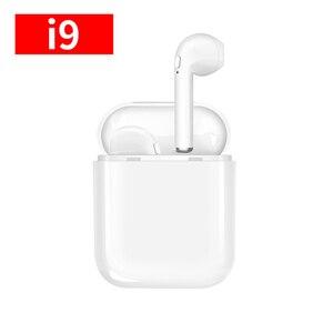 Беспроводные наушники I9 Bluetooth 5,0 беспроводные наушники Airpodding зарядная коробка с микрофоном спортивная водонепроницаемая гарнитура вкладыш...