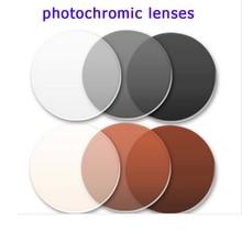 Fotochromowe okulary przeciwsłoneczne soczewki przeciw promieniowaniu szare/brązowe kolorowe soczewki do oczu okulary optyczne okulary na receptę damskie