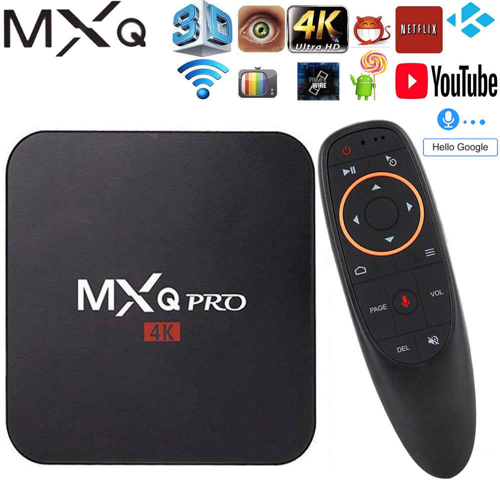MXQ Pro Android 7.1 smart tv Box 2GB RAM 16GB Amlogic S905W Chip 2.4G WiFi 4K Google Netflix Youtube zestaw odtwarzacza multimedialnego Top Box