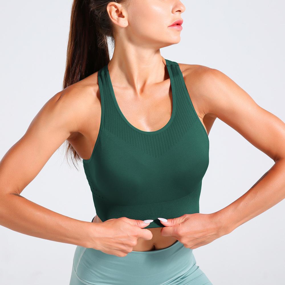 Verde sem Emenda Roupas de Fitness Esportivas de Treino Oco para Fora do Esporte T-camisa Yoga Ginásio Camisas Respirável Roupas Esportes Topos Jogging
