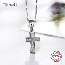 Cross Necklace Solid 925 Sterling Silver metal Small Pendant Zirconia Fast delivery 925 silver Jewelry for women