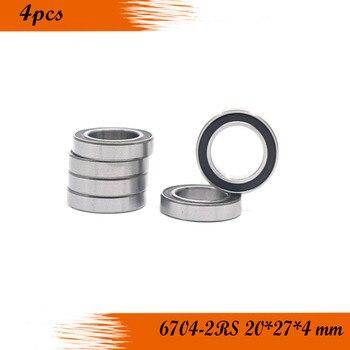 Free Shipping 4PCS 6704-2rs 20x27x4 black Rubber Bearings ABEC-3 6704 2RS 61704 фото