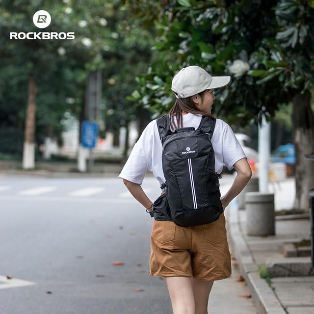 Rockbros ciclismo mochila bicicleta à prova de chuva sacos de desporto acampamento ao ar livre viajar caminhadas sacos respirável alta capacidade 2