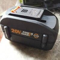 Batería de ion de litio LED para Worx 20v worx, 2000, 4000, 3520, 3525, 3575, 2A, 6A, 2006-2011, el más barato, WA3742, WA3835, WA3847
