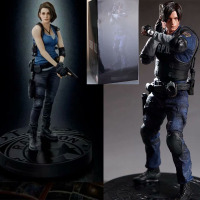30-32cmNew Biohazard RE:3  Jill Valentine Figure  Statue Collection Leon Scott Kennedy Figure Toy Doll Gifts
