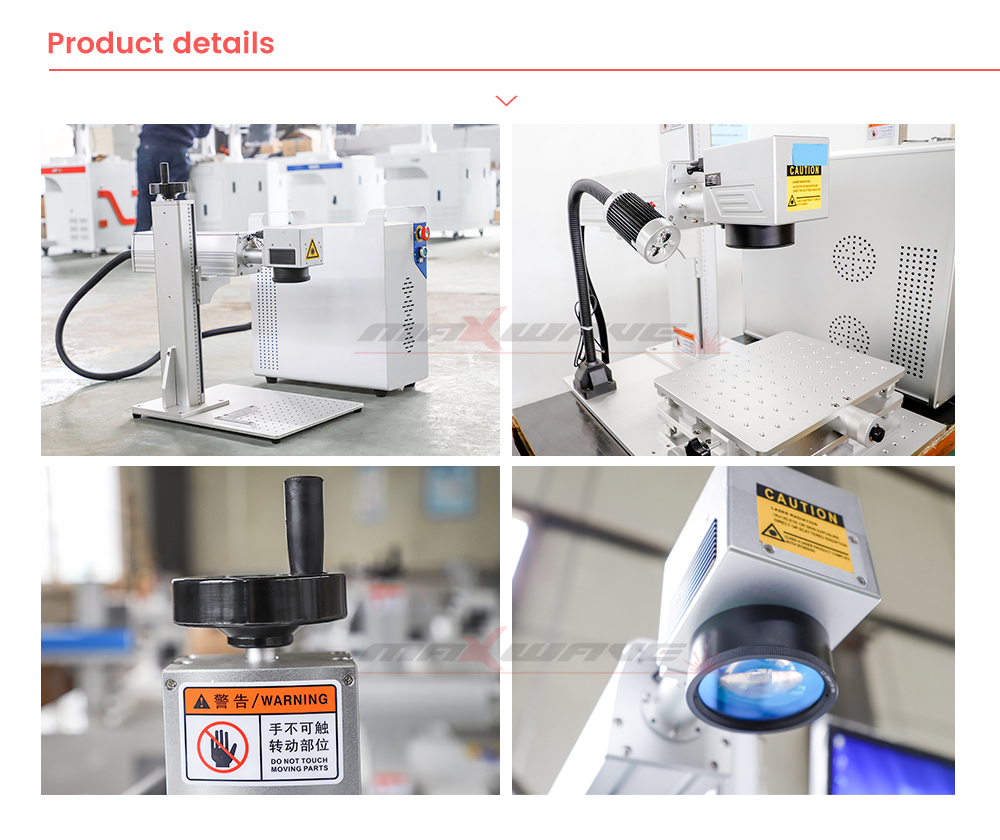 MW-20W Fiber Laser Marking Machine With Self-Clean system And Lifting Handle 8
