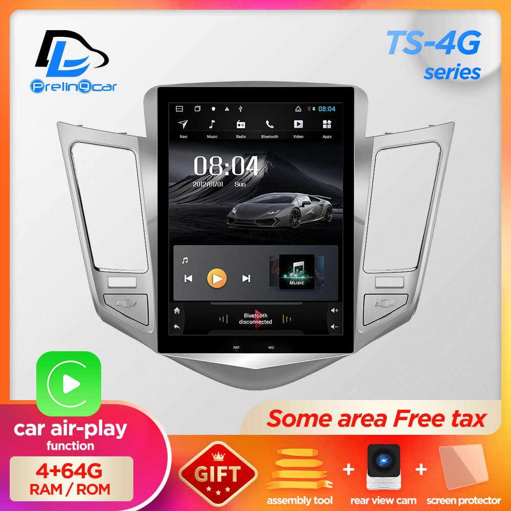 32G ROM Vertical Screen Android 9.0 System Car Gps Multimedia Video Radio Player  In Dash For Chevrolet CRUZE Navigation Stereo