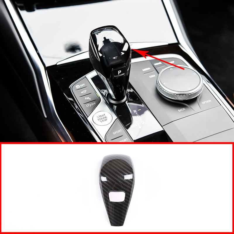 Car Accessories ABS Carbon Fiber Gear Head Cover Decoration For BMW New 3 Series G28 G20 325li 2020  Gear Head