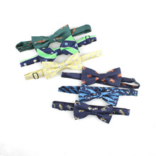 Bow-Tie Bowtie-Accessories Jacquard Baby Boys Children's Polyester for Animal-Pattern