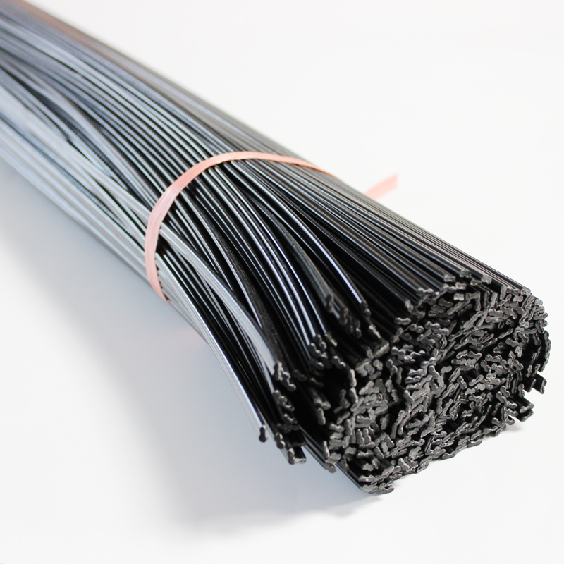 PP Plastic Welding Rods Black 1m Long Double Round 2.5x5.0mm For Auto Bumper Car Repair Tools Hot Air Gun Soldering Accessories