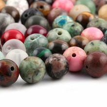 100 Pieces Mix Natural Stone Beads Agates Amazonite Unakite 6 8mm Loose for Jewelry Making Necklace DIY Bracelet