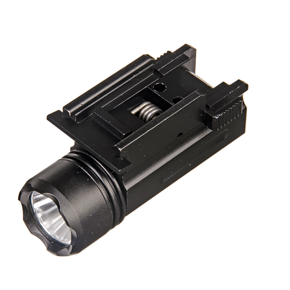 Tactical Flashlight 20mm Rail Airsoft Mini Pistol Light QD Quick Detach Strobe LED Rifle Gun T Torch Glock 17 19 18C 24 Hunting