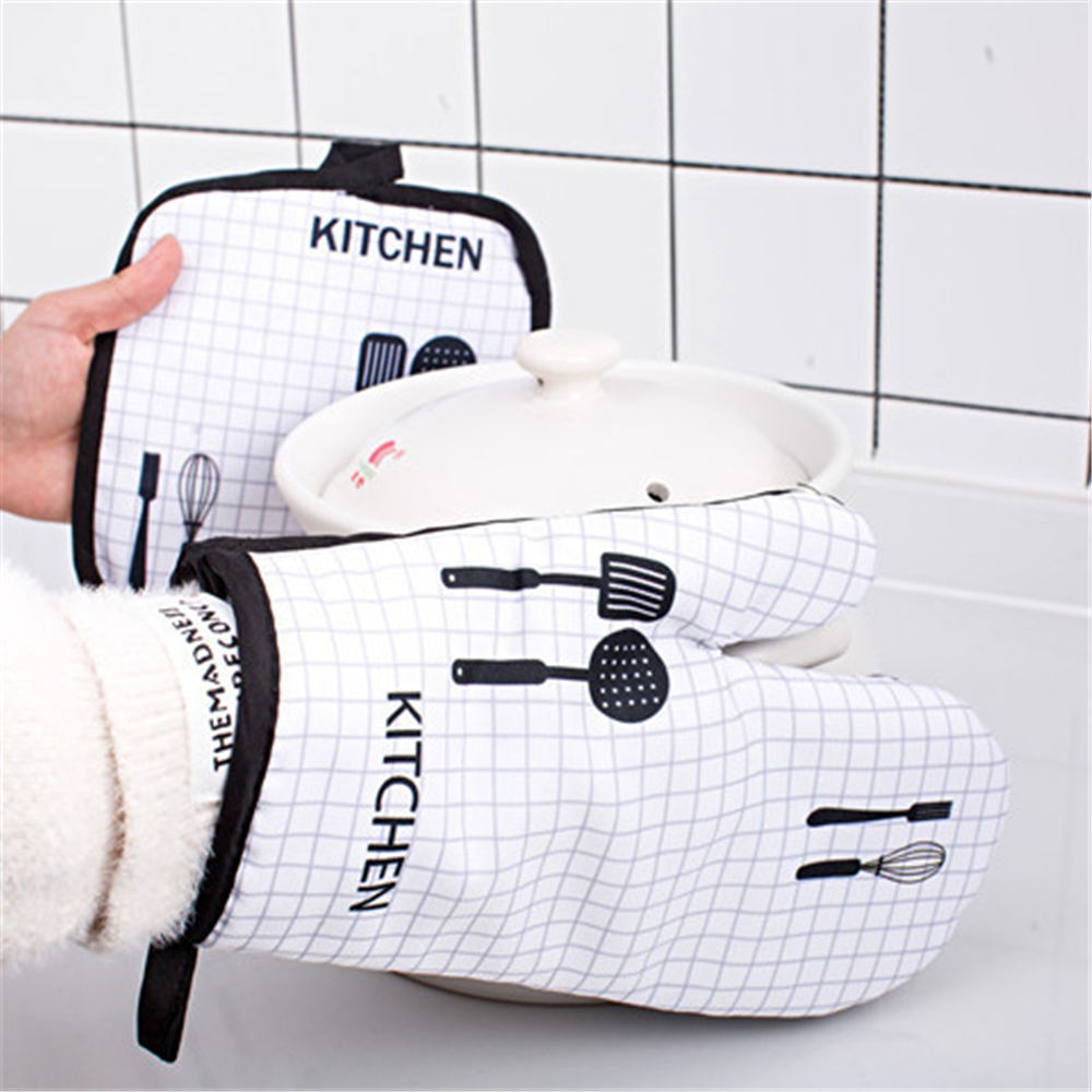 Kitchen Creative Cotton Microwave Oven Glove Household Cooking Insulation Pads  Anti-scald Gloves Baking Heat-resistant Pot Pad