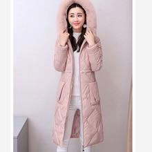 Women Korean fashion down cotton jacket winter fur coat large size Female clothing