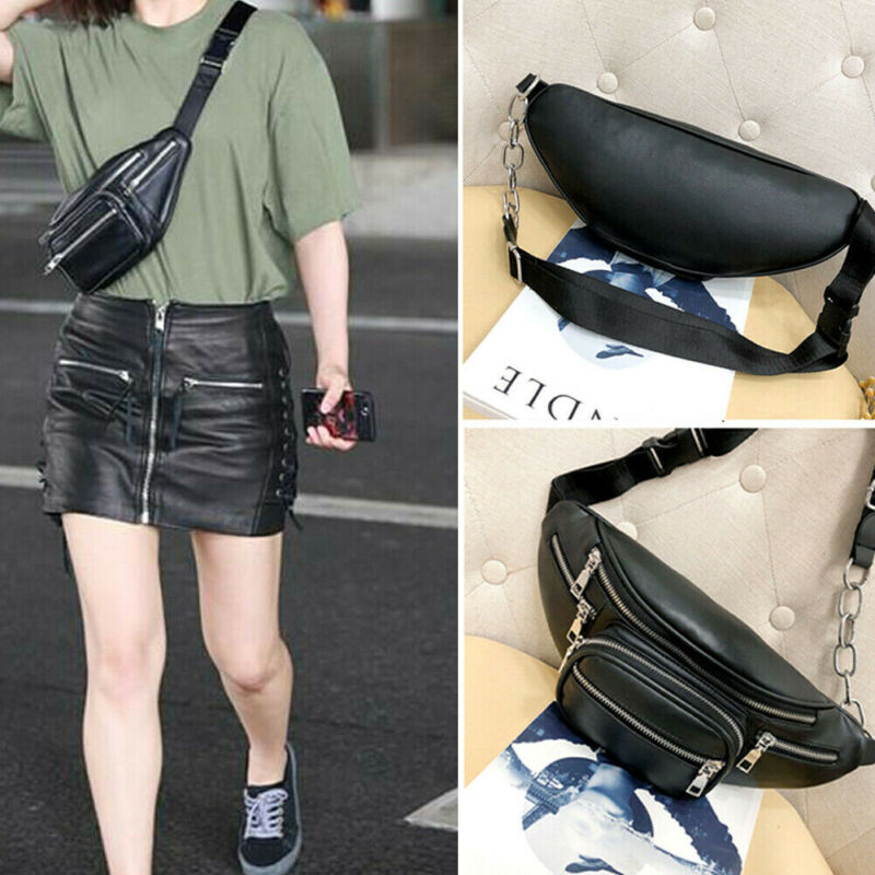 Women Fashion Waist Large Pack Leather Fanny Pack Mens Waist Belt Bag Womens Purse Hip Pouch Travel Bags For Men Women 2020