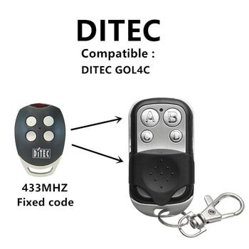 DITEC GOL4C 433mhz remote control fixed code garage command handheld transmitter GOL4C DITEC garage door opener 433.92mhz remote ditec gol4c garage door gate remote control replacement duplicator fixed code 433 92mhz
