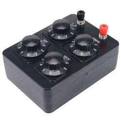 0-9999 Ohm prosty opornik Box precyzyjny zmienny rezystor dekadowy Instrument dydaktyczny
