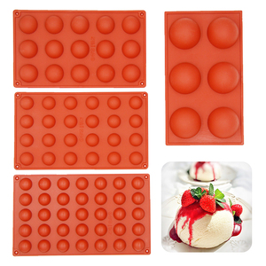 Hemispheres Shape Silicone Mold for Chocolate Candy Ice Cube Maker Molds for Baking Biscuit Cake Tools Candy Mold