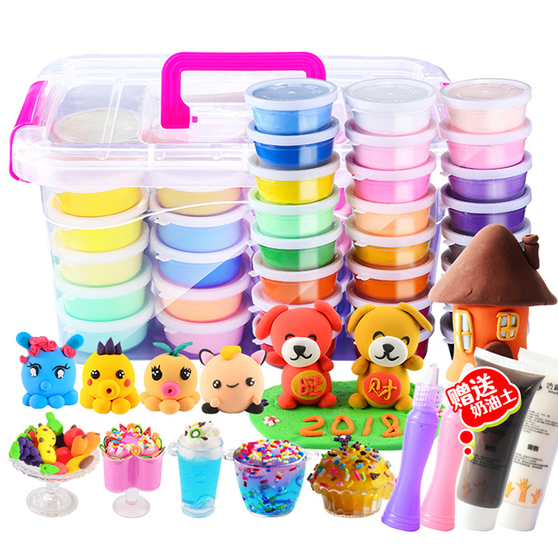 24 Color Set Clay Children DIY Toy Plasticine Space Color Mud Color Toys Children Safe  Ice Cream Toys For Kids Cloud Slime