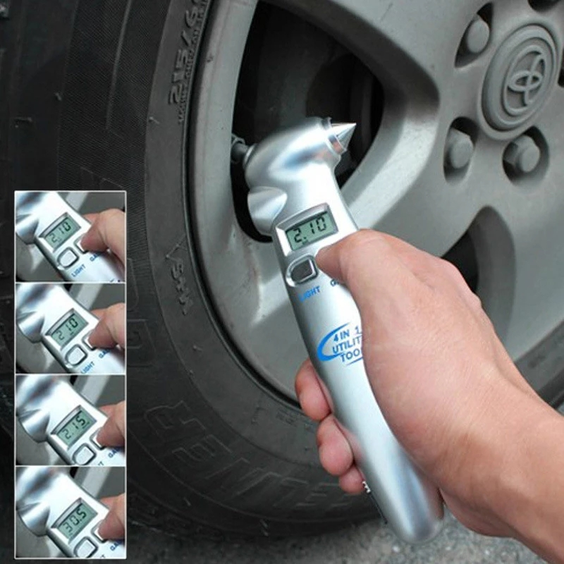 Four-in-One Tire Pressure Gauge allinonehere.com
