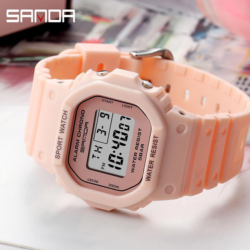 SANDA Children Watches Boys Girls Students Digital Sports Watch 50m Waterproof Wristwatch Kids Party Gift Clock Relogio Feminino