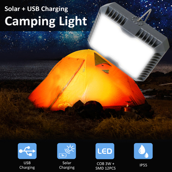 Outdoor Portable Hanging Lamp Camping Light USB+Solar Charging Flashlight Camping Tent Light Solar Led Lantern Portable Lantern 25led solar camping light solar multifunction remote control lights solar hanging light tent light