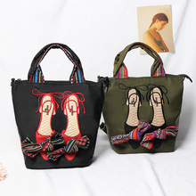 Shoes Handbags Embroidered Bow-Knot Women Tote-Shoulder-Bag Crossbod-Bags Casual Fashion