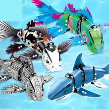 342Pcs Simulated Moving Fish model Building Blocks Compatible Technic animal city bricks Educational Toys for children цена