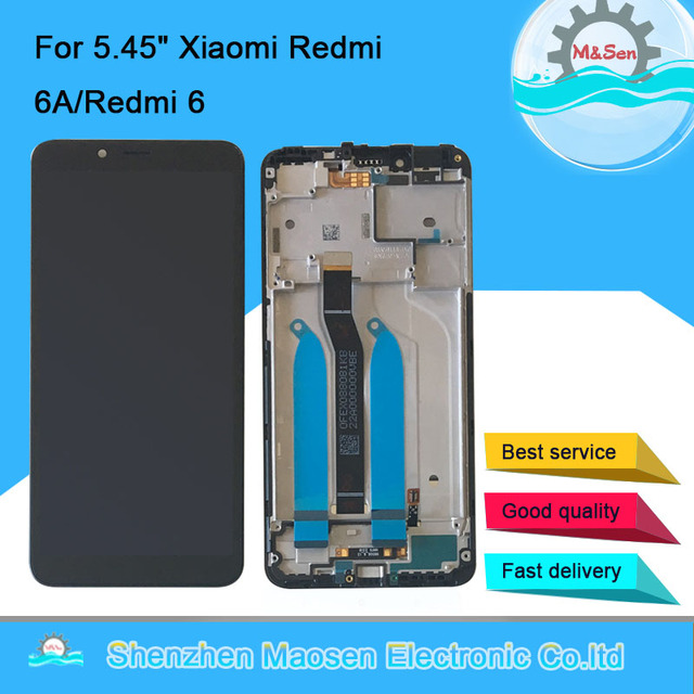 "5.45"" Original M&Sen For Xiaomi Redmi 6A LCD Screen Display+Touch Digitizer Frame For Xiaomi Redmi 6 Global Version Lcd Display"