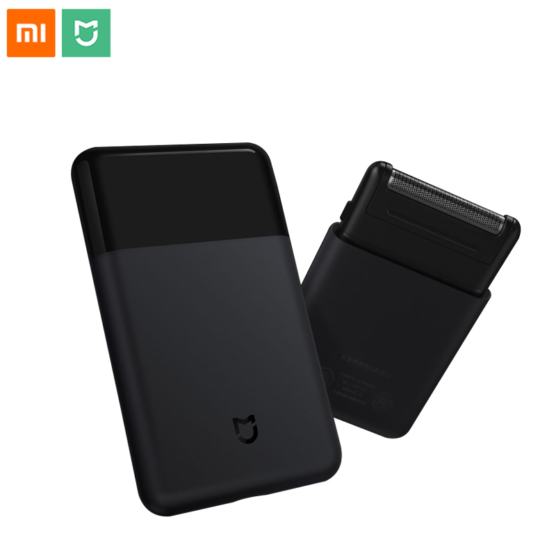 Xiaomi Mijia портативная мини Мужская электрическая бритва для бритья металлический корпус usb type C японская стальная режущая головка большая батарея для очистки лица|Электробритвы|   | АлиЭкспресс