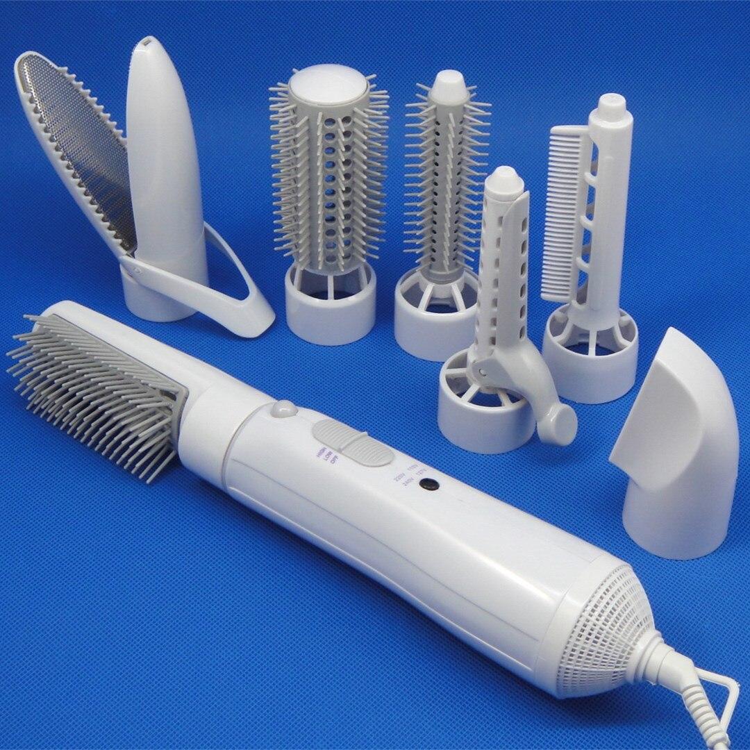 En gros multifonctionnel zhi fa juan génération d'énergie sèche-cheveux haute puissance rouleau droit double usage ménage coiffure