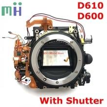 שני יד עבור ניקון D600 D610 מול עיקרי גוף מסגרת תיבת מראה עם תריס צמצם מנוע Diphragm יחידה מצלמה תיקון חלק
