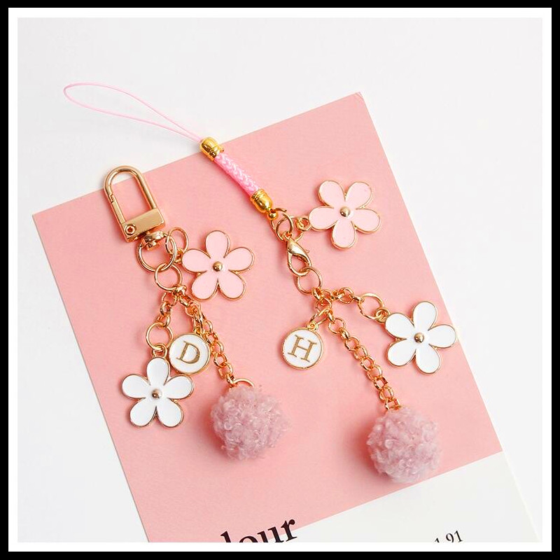 2019 NEW Cute Creative Airpods Pendant Car Keychains Women Girls Charm Bags Key Chain Accessories Lovers Key Ring Wholesale