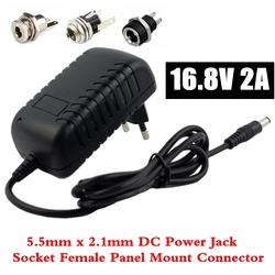 16,8 V 2A литий-ионная батарея зарядное устройство для 14,4 V 18650 литиевая батарея 5,5mm x 2,1mm DC разъем питания гнездовой панельный разъем