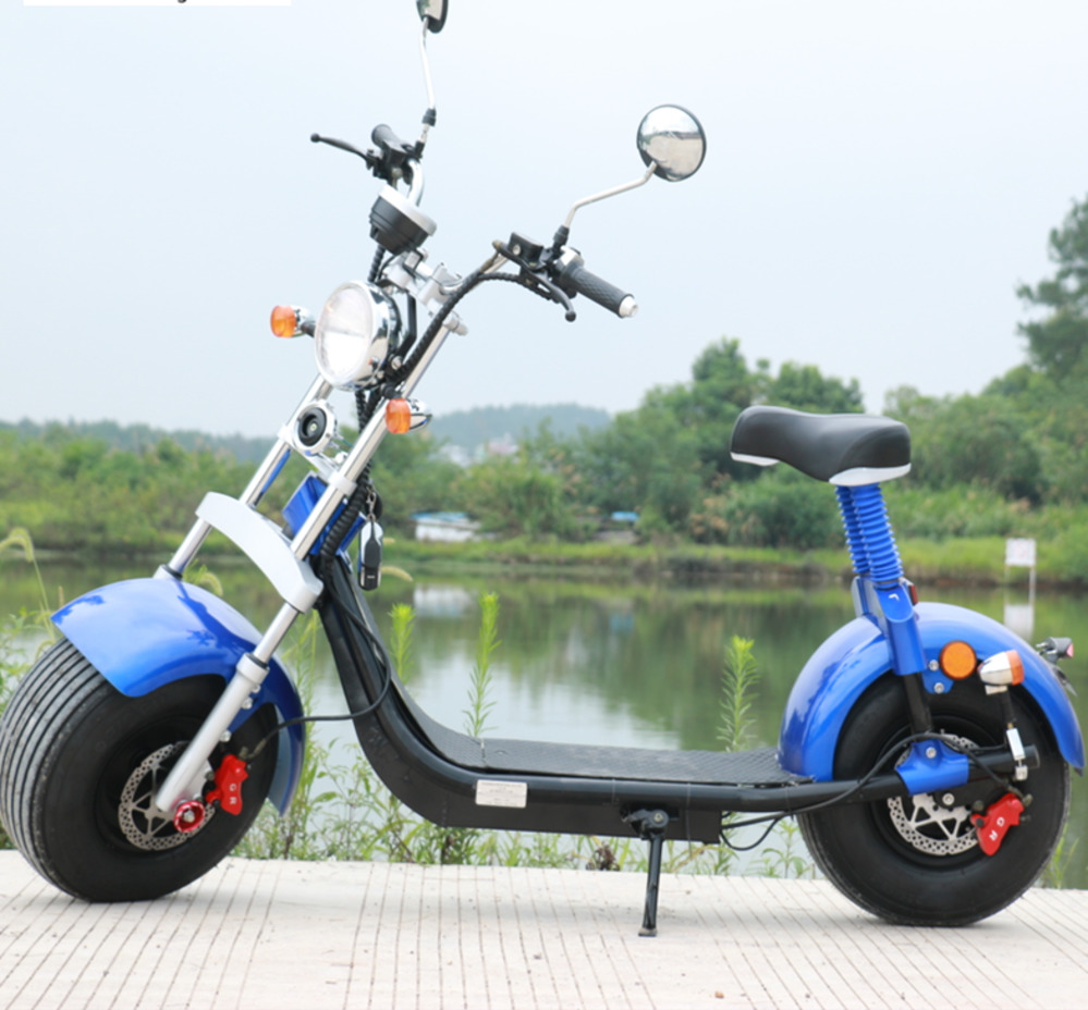 Электрический мотоцикл Citycoco 1500 Вт, 60 в, 20 Ач, 40 км/ч, диапазон 50 км