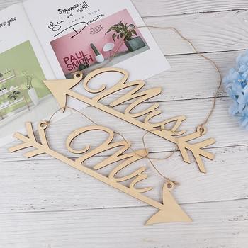 1 para rustykalne drewno ślub znak dekoracje sprzyja pan i pani strzałka znaki dekoracja weselnego krzesła zdjęcie rekwizytu tanie i dobre opinie YOWEI CN (pochodzenie) litera Arrow signs decoration Drewno drewniane Rocznica Ślub i Zaręczyny Walentynki