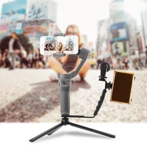 Image 3 - فلوغ فيديو مثبت أفقي ملحق مصباح ليد ل DJI OM 4 أوزمو موبايل 2 3 Zhiyun السلس 4 Feiyu موزا التوسع قوس أطقم