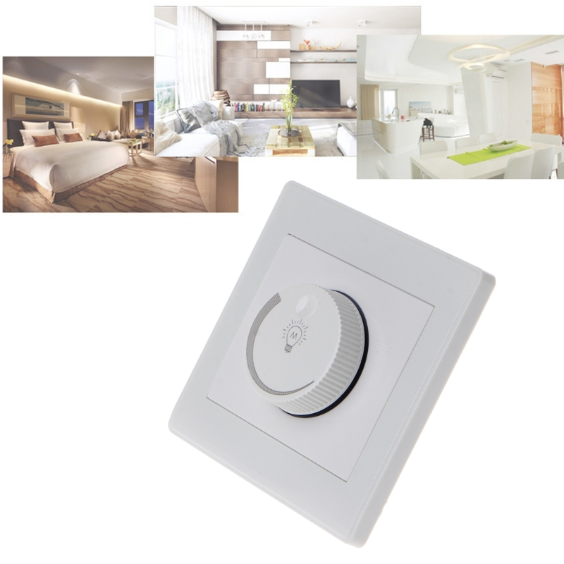1PC 220V Light Dimmer Switch Adjustable Brightness Controller For Filament Lamp