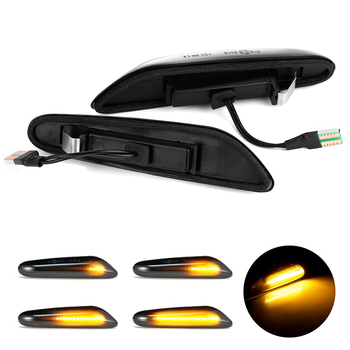 2pc LED Sequential Turn Signal Fender Marker Lights For BMW E46 E36 E60 E61 E90 E92 E93 X1 E84 X3 1