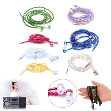 Luxury Pearl Necklace Chain Earphone Stereo Hi-Fi Wired Headphone For Smartphone 634A(China)