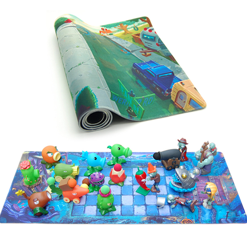 Plants vs. Zombies Toys Game Pads Mouse Thicken Long Battle Map