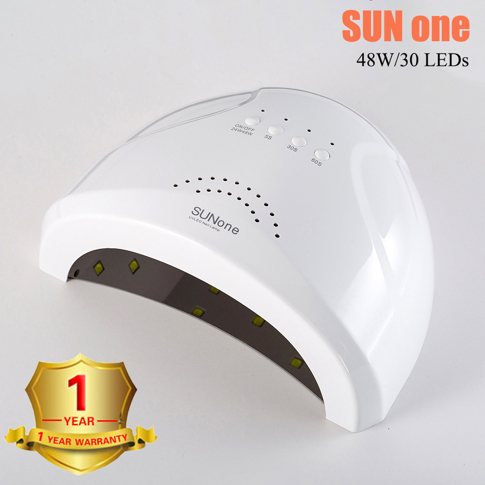 UV Lamp 48W Nail Dryer SUN One UV Lamp Led Dry Nail Gel Polish Curin With Bottom 30/60s Timer Lamp For Manicure