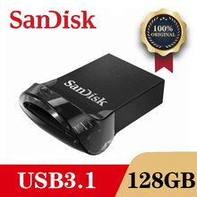 SanDisk unidad Flash CZ430 Mini, dispositivo de lápiz de memoria, USB 3,1, 128GB, 64GB, 32GB, 16GB