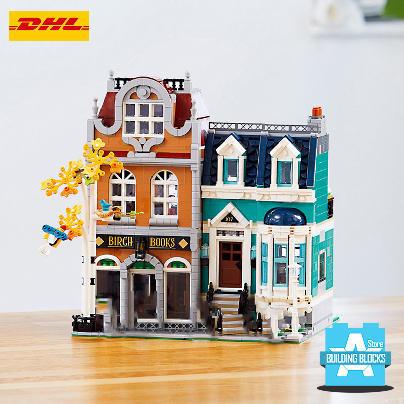 New available book shopes street view building blocks with <font><b>10270</b></font> Light image