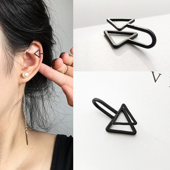 Ear Cuff Wrap Earrings Jewelry Piercing Clip On Earrings Triangle Cartilage Clip Diy Settings Black Color.jpg 350x350 - Ear Cuff Wrap Earrings Jewelry Piercing Clip On Earrings Triangle Cartilage Clip Diy Settings Black Color