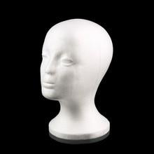 Белый женский манекен из пенополистирола модель манекен-голова Пена Губка парик волосы очки крышка для хранения Новинка дисплей домашний декор подставка
