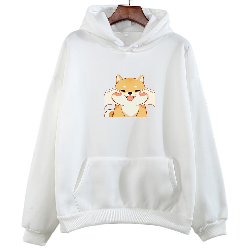Summer Kawaii Corgi Dog Print Hoodies Women Autumn Japanese Streetwear Hoodie Cartoon Graphic Sweatshirt Harajuku Hoody Pullover