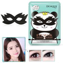 1 шт. черная маска для глаз увлажняющая гладкая тускнеющая темная круглая маска для глаз против морщин влажная маска для ухода за кожей глаз мультяшная панда повязка для глаз TSLM2